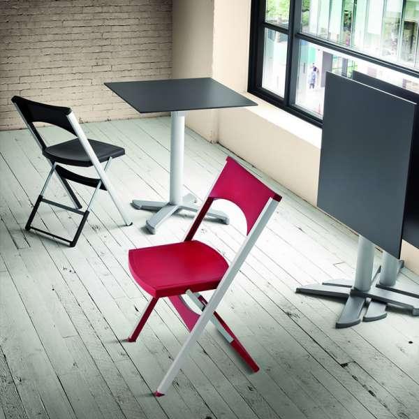 Chaise pliante solide en technopolymère et métal aluminium - Compact - 1