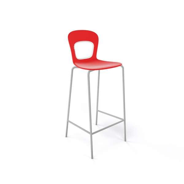 Tabouret rouge et gris design et empilable - Blog - 20