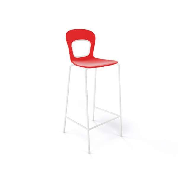 Tabouret rouge et blanc design et empilable - Blog - 19