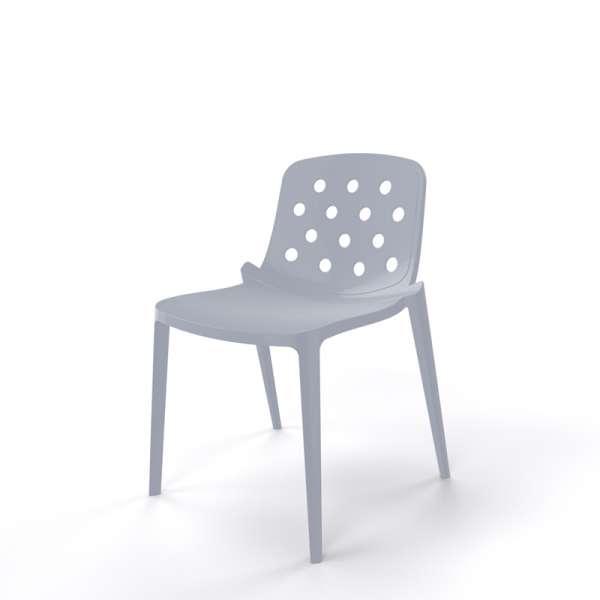 Chaise de jardin design en plastique gris clair - Isidora - 11