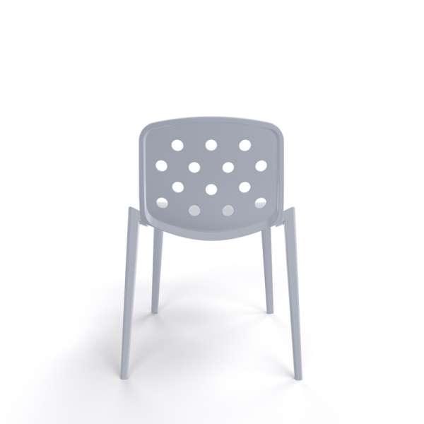 Chaise de jardin moderne en plastique gris clair - Isidora - 12