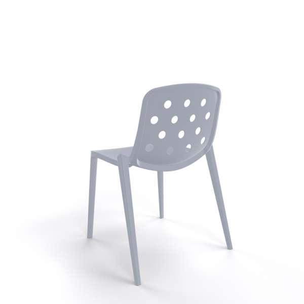 Chaise outdoor en plastique gris clair - Isidora - 13