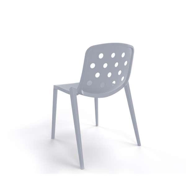 Chaise design en plastique gris clair pour jardin - Isidora - 14