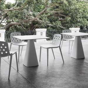 Chaise d'extérieur design en technopolymère - Isidora