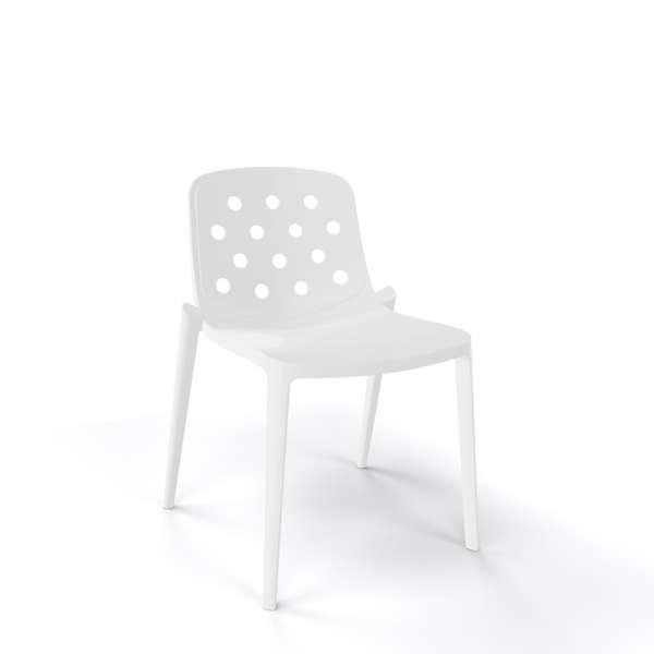 Chaise moderne empilable en plastique blanc - Isidora - 8