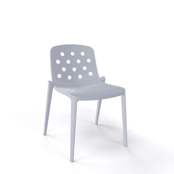 Chaise moderne empilable en plastique gris - Isidora - 9