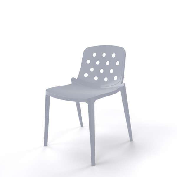 Chaise moderne empilable grise - Isidora - 11
