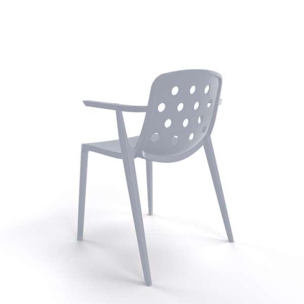 Chaise de terrasse design en plastique gris clair - Isidora - 22