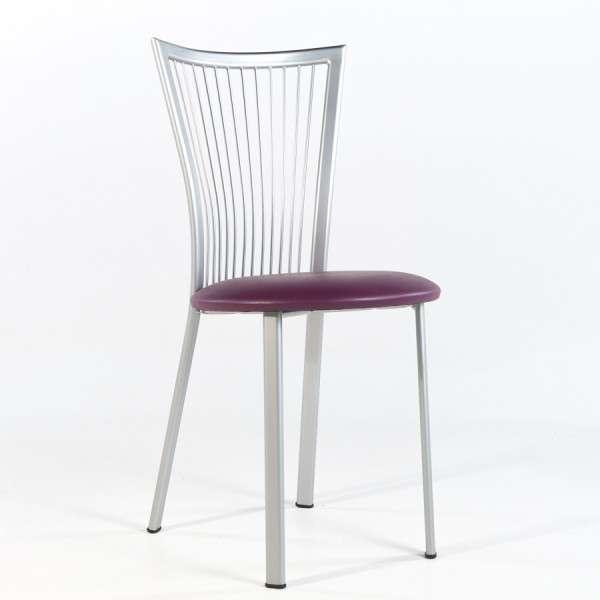 Chaise de cuisine à barreaux italienne en synthétique et métal - Fanny - 6