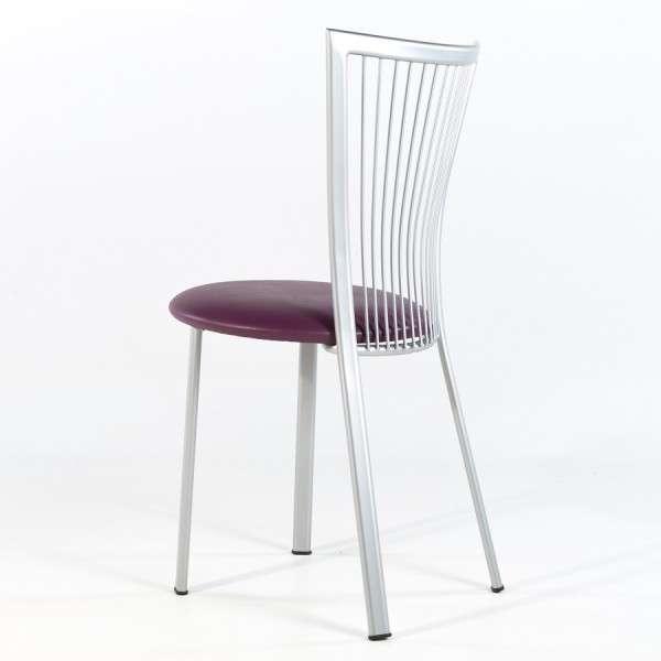 Chaise de cuisine à barreaux italienne avec assise rembourrée et pieds en métal - Fanny - 7