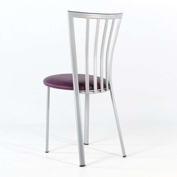 Chaise de cuisine à barreaux avec assise rembourrée et pieds en métal - Era - 2