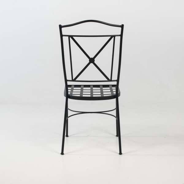 Chaise style provençal en acier noir - Pisa - 6