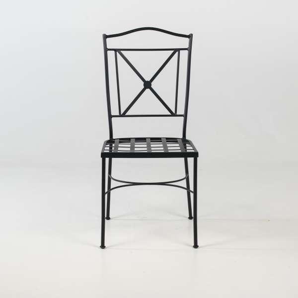 Chaise de jardin provençale noire - Pisa - 3