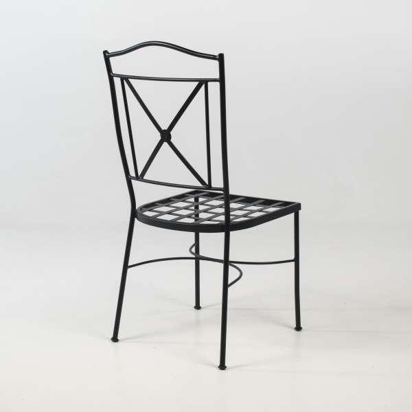 Chaise de jardin provençale imitation fer forgé - Pisa - 5