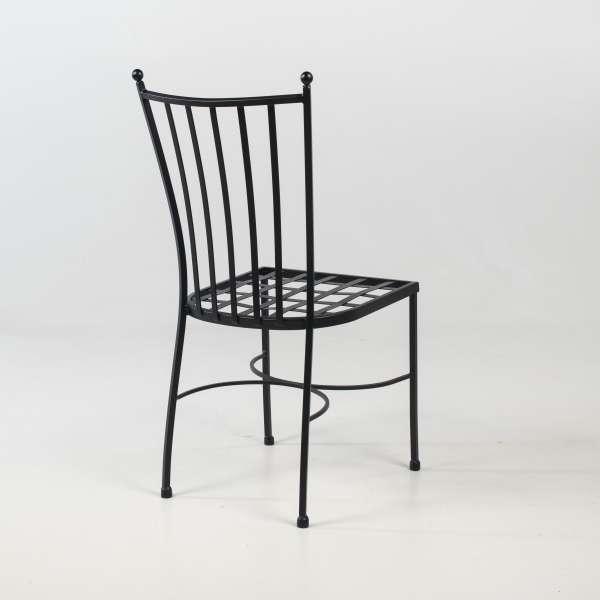 Chaise en acier noir style provençal - Venecia - 5