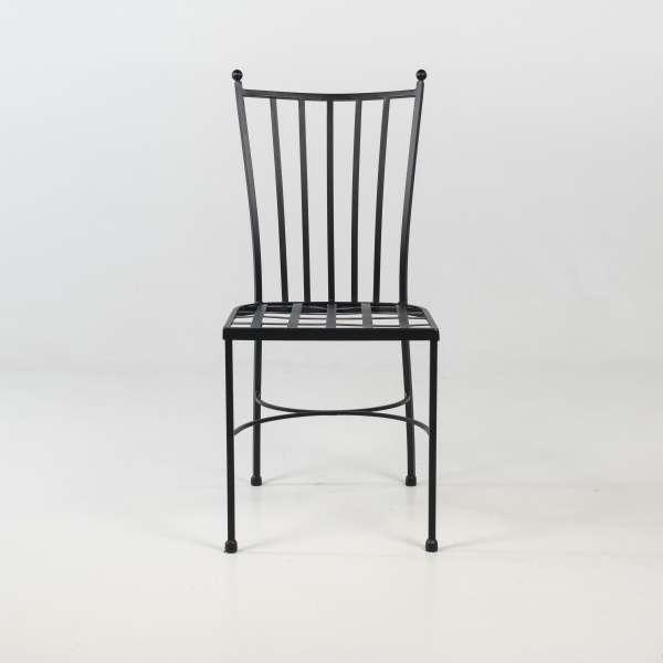 Chaise de jardin provençale en métal noir - Venecia - 3
