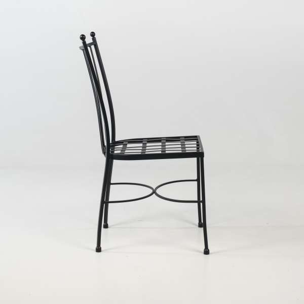 Chaise de jardin provençale en acier noir - Venecia - 4