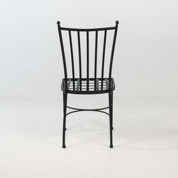Chaise de terrasse provençale en métal noir - Venecia - 6