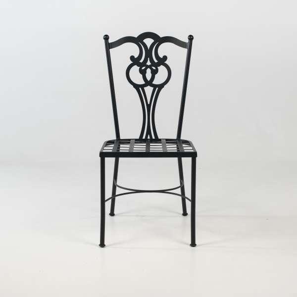 Chaise de jardin provençale en acier noir - Viena - 3