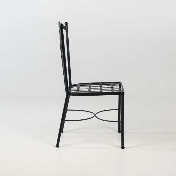 Chaise de jardin provençale imitation fer forgé noir - Viena - 4