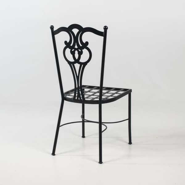 Chaise de terrasse provençale imitation fer forgé noir - Viena - 5