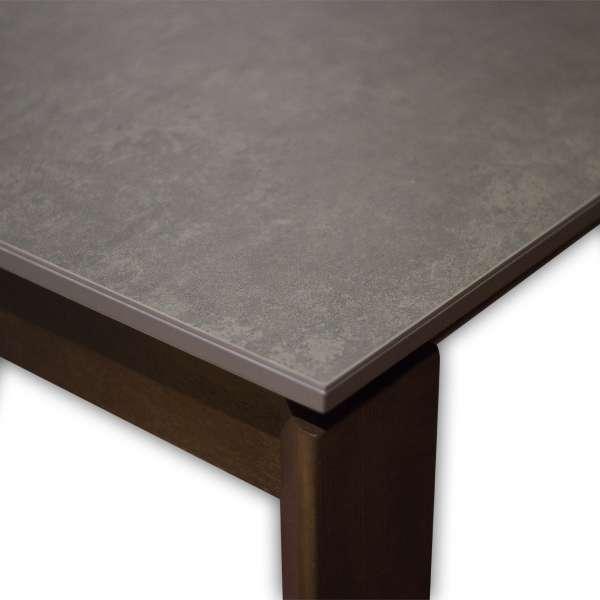 Table en céramique grise extensible avec pieds en bois massif - Eminence Connubia© - 5