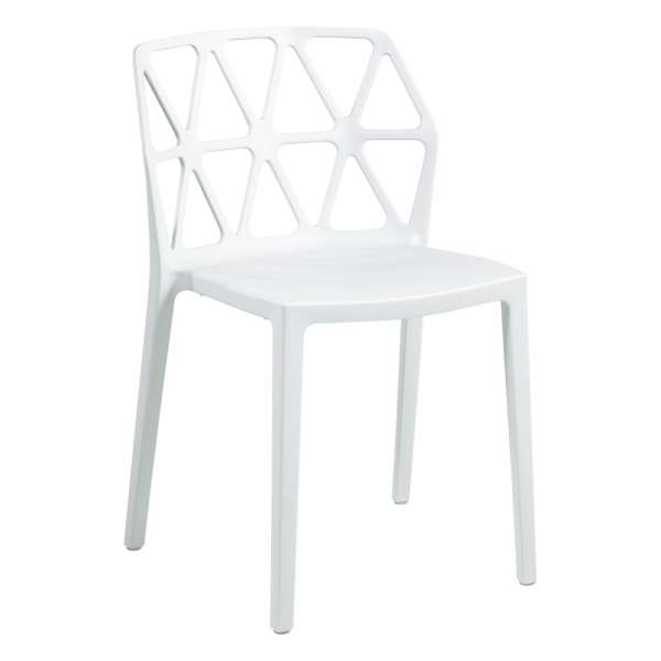 chaise design empilable en plastique blanc polypropylène - Alchemia Connubia - 8
