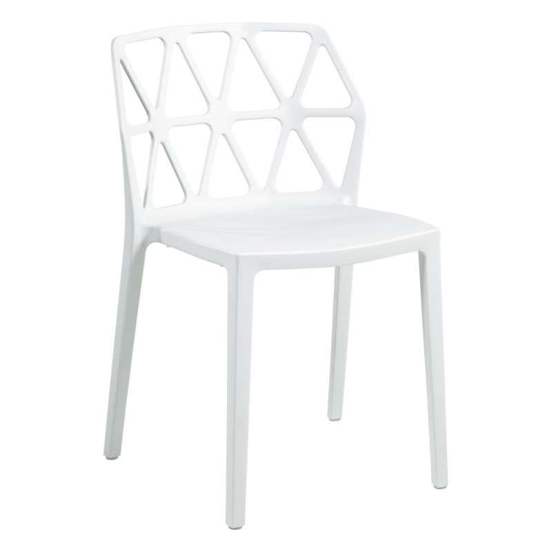 chaise empilable en plastique design