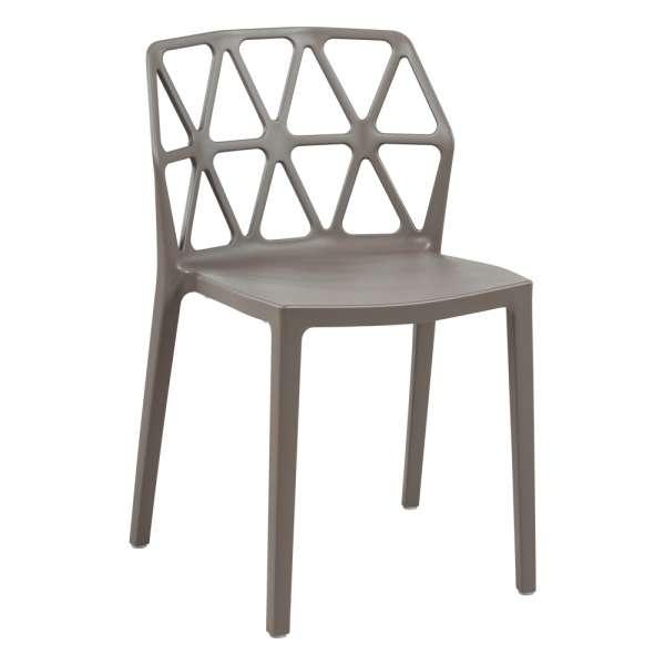 chaise de jardin empilable en polypropylène couleur taupe - Alchemia Connubia - 6