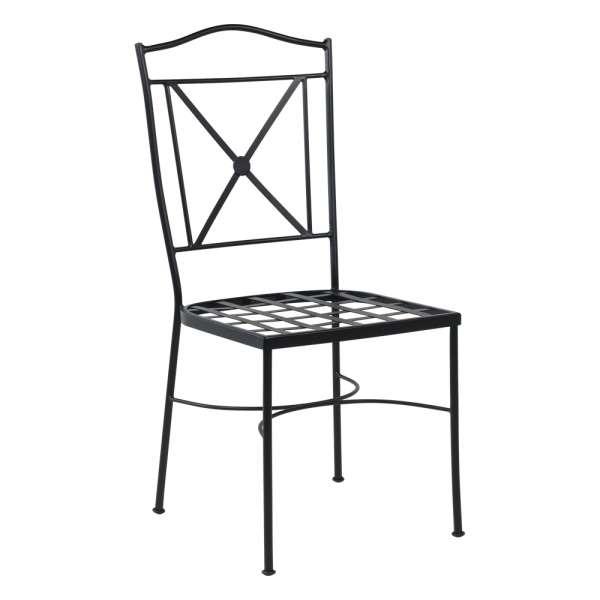 Chaise de jardin provençale en métal noir - Pisa - 2