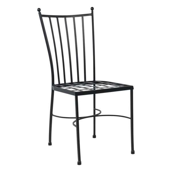 Chaise provençale en métal noir - Venecia - 2