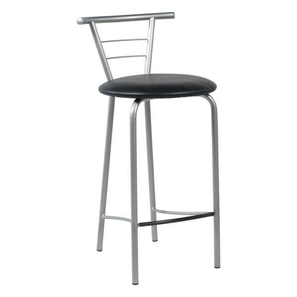 Tabouret snack contemporain avec assise rembourrée et structure en métal - Valérie - 1