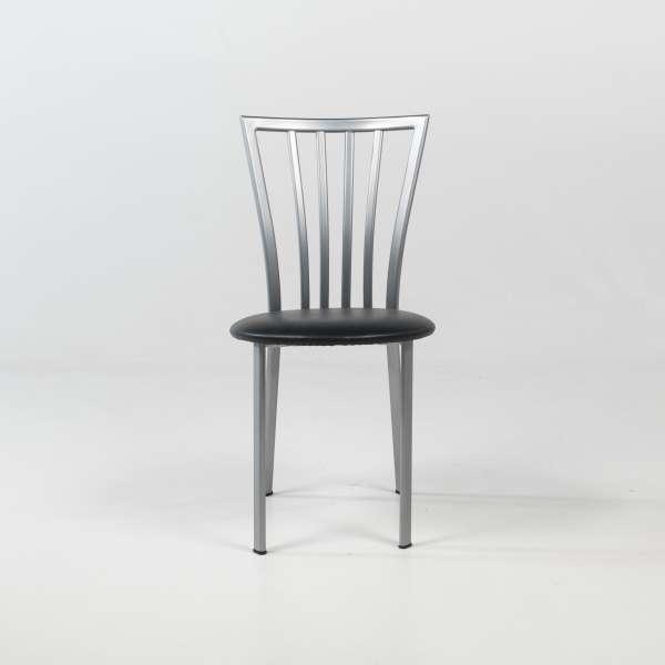 Chaise de cuisine à barreaux avec assise rembourrée et pieds en métal - Era - 4