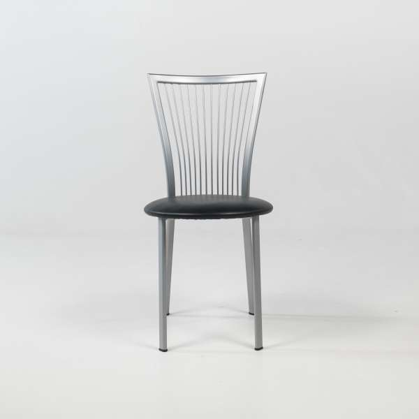 Chaise de cuisine à barreaux italienne en synthétique et métal - Fanny - 2