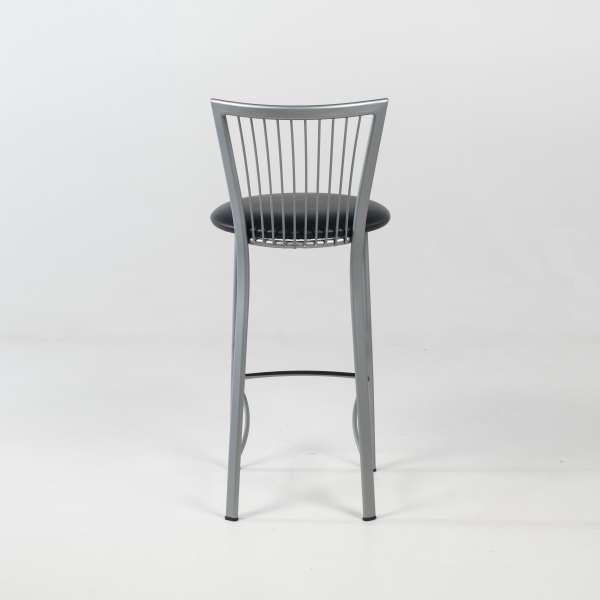Tabouret snack avec assise ronde rembourrée avec pieds et dossier à barreaux en métal - Fanny - 5