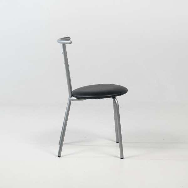 Chaise de cuisine contemporaine en métal avec assise rembourrée - Valérie - 3