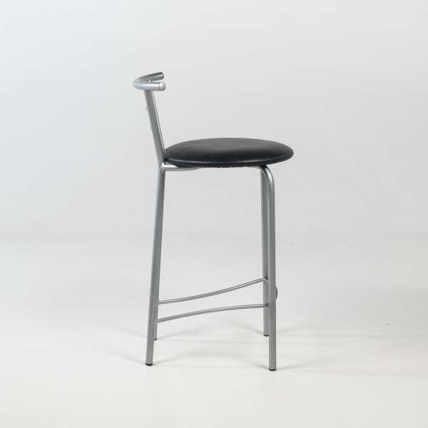 Tabouret snack avec assise rembourrée et structure en métal - Valérie - 3