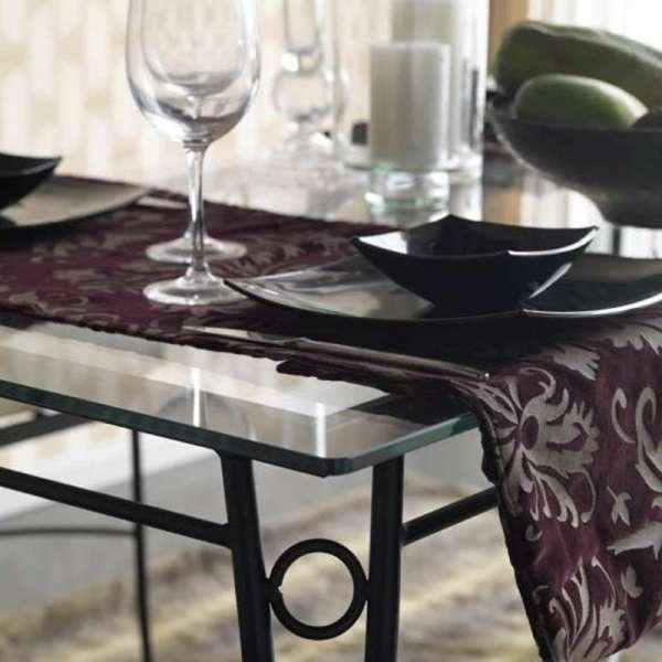 Table provençale en verre trempé et acier - Pisa - 5