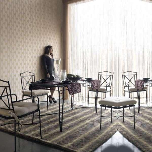 Table provençale en verre trempé et acier - Pisa - 4