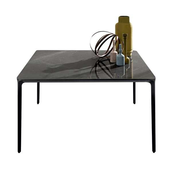 Table carrée design italienne en céramique et métal - Slim Sovet® - 2