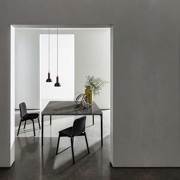 Table carrée design italienne en céramique et métal - Slim Sovet® - 4