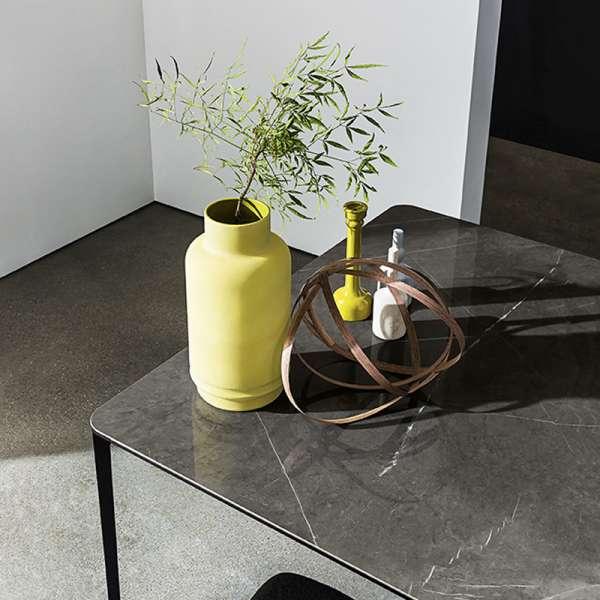 Table carrée design italienne en céramique et métal - Slim Sovet® - 3
