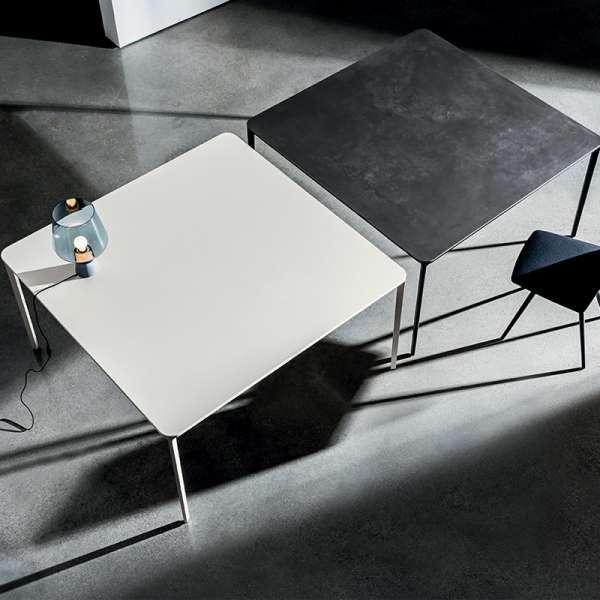 Table carrée design italienne en céramique et métal - Slim Sovet® - 1