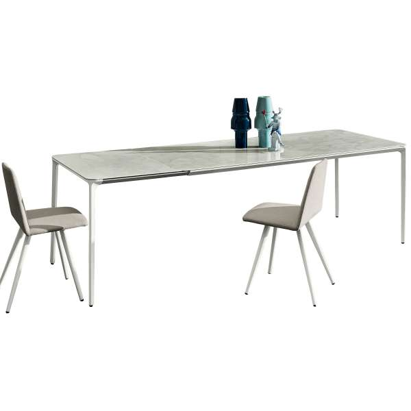 Table en céramique design extensible -  Slim Sovet® 25 - 25