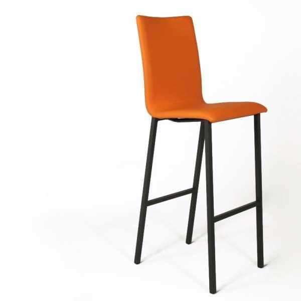 Tabouret snack Mobliberica® rembourré orange contemporain - Koko - 2
