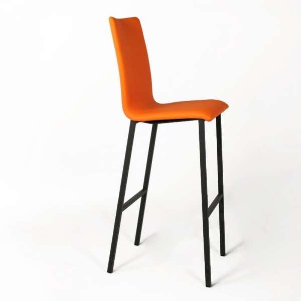 Tabouret snack Mobliberica® orange avec pieds en noir - Koko - 3