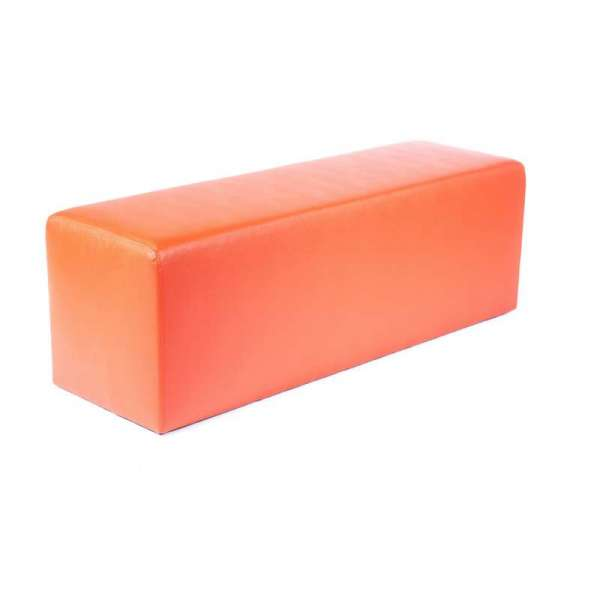 Pouf long rectangulaire orange MaxQ120 - 29