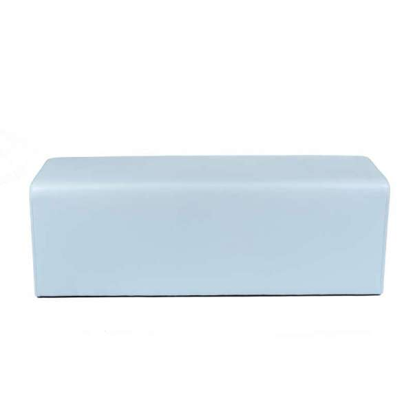 Pouf long rectangulaire bleu MaxQ120 - 30