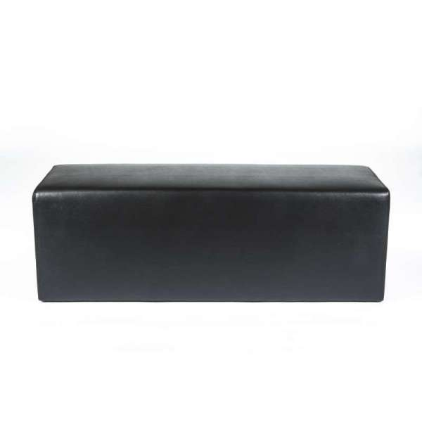 Pouf long rectangulaire noir MaxQ120 - 31