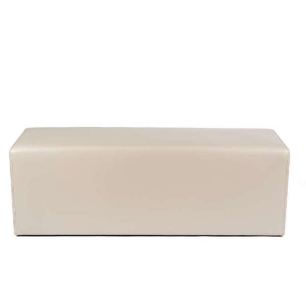 Pouf long rectangulaire beige MaxQ120 - 34